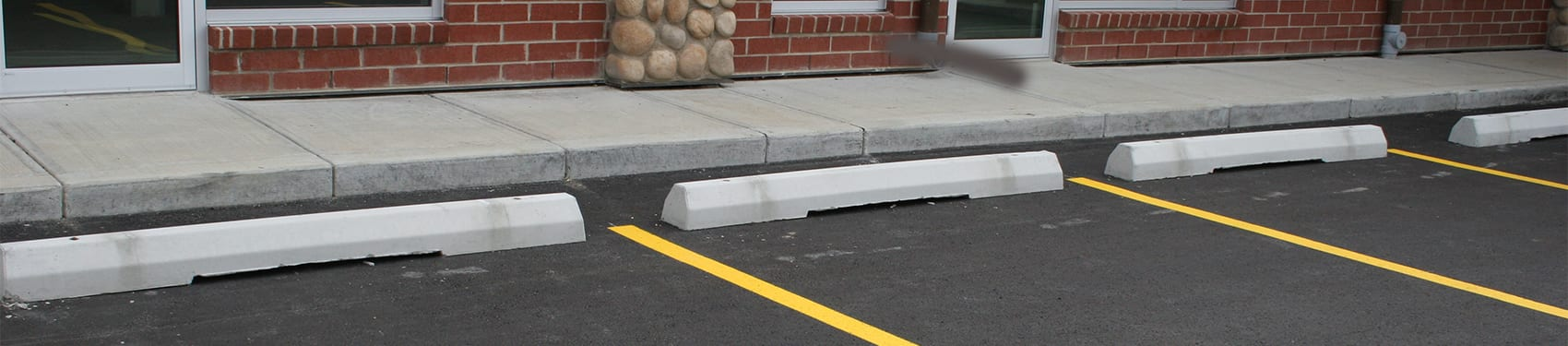 Prestressed Concrete Sidewalks : Precast concrete parking curbs westcon alberta